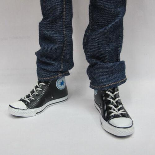 """1//6Clothes Set for 12/""""Action Figure Plaid Long Sleeve Shirt Jeans Belt Shoes"""