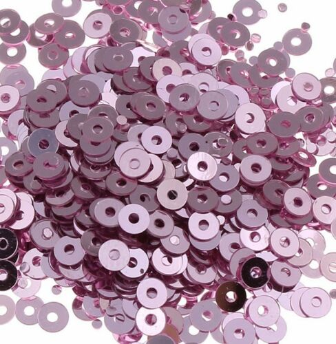 2400 lentejuelas 3mm vintage rosa redondo Liso perlas bricolaje coser decorativas Best pai29