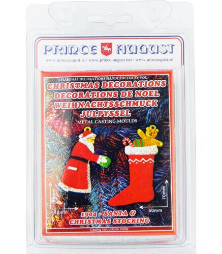 Flat Christmas Decorations Santa Claus Xmas Stocking Moulds Molds PA1904