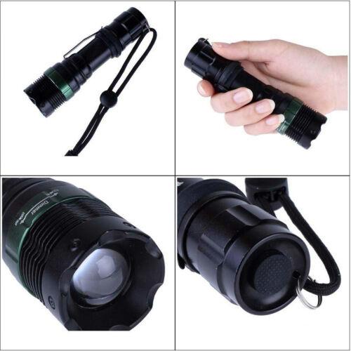 Adjustable LED Lights Flashlight 15000Lumens TM-002 Q5 18650 AAA Battery Torch