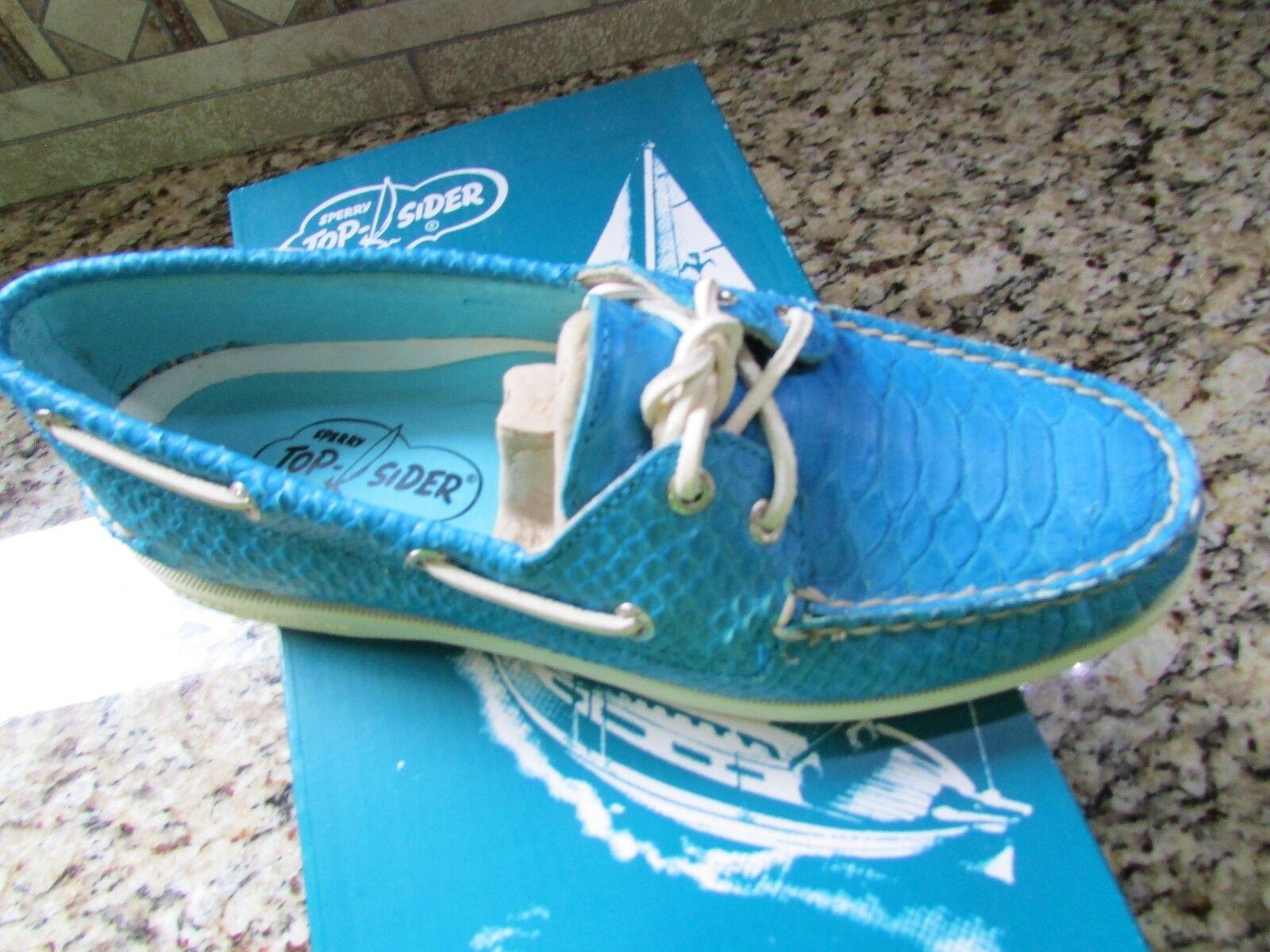 NEW SPERRY TOP-SIDER A/O BLUE PYTHON BOAT Scarpe Donna 8 SNAKE FREE SHIP  150
