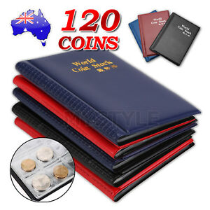 Coin Stock Holder Money Storage Pockets Penny Collection Album Book Collecting 714439059613