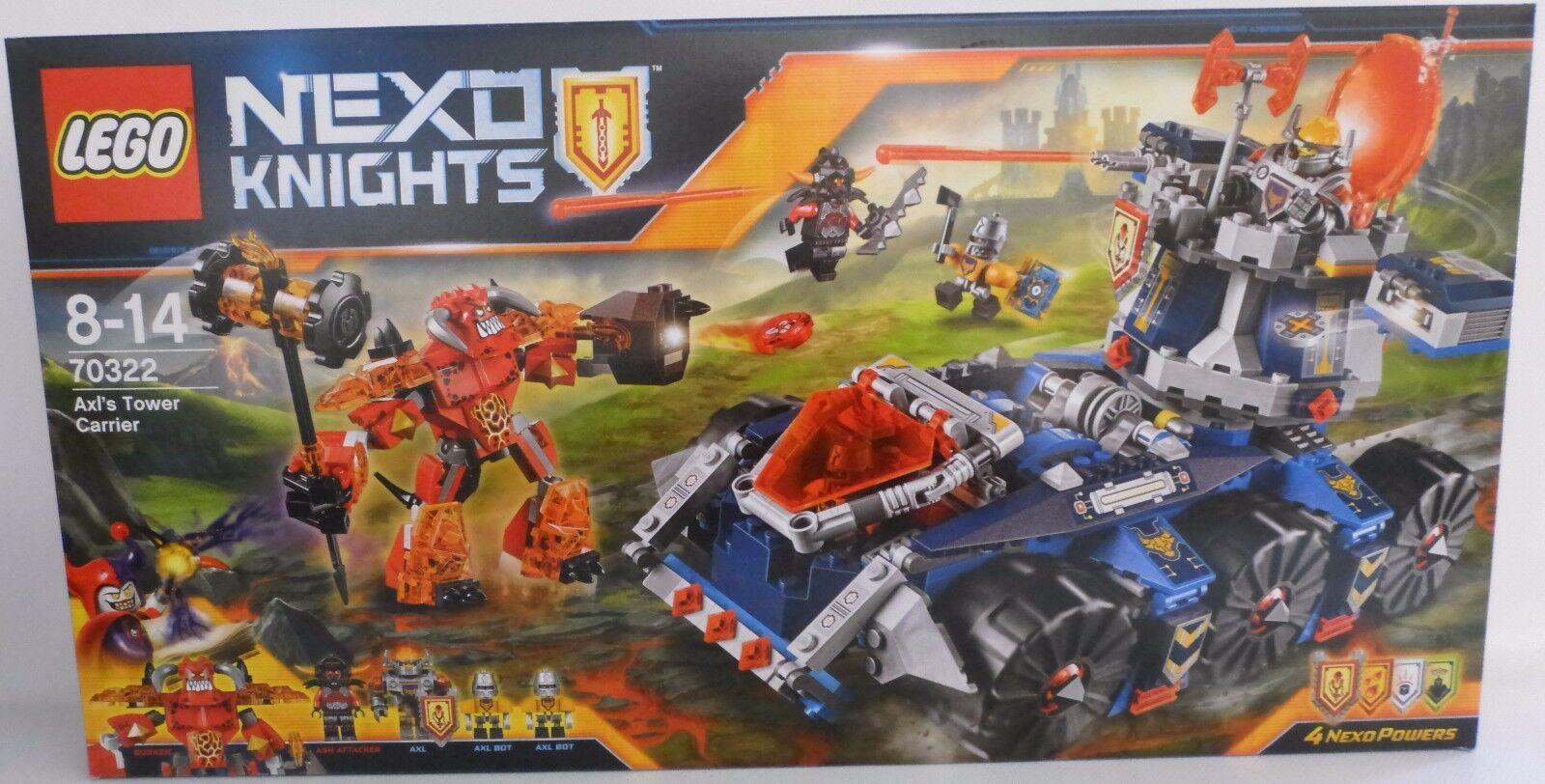 NUOVO  LEGO  ® Nexo Knights ™ 70322 axls mobile torre di difesa  OVP   vendite online