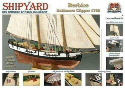 Maquette - Modélisme - SHIPYARD Berbice Baltimore Clipper 1780