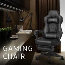 Massage Racing Gaming Chair Swivel Computer Desk Seat Ergonomic Recliner Black