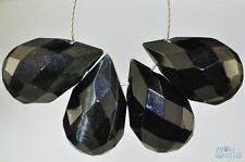 4 Pieces 10x16mm Premium~BLUE TIGER EYE Faceted Teardrop Briolette Beads C0509