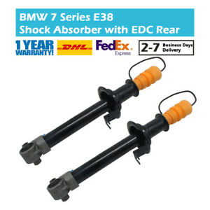 Pair Rear Left and Right Shock Absorber Fit BMW 7 Series E38 730 735 740 750 EDC