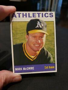 1989 SCD Pocket Price Guide Insert #1 MARK McGWIRE