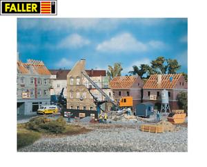 Faller-H0-130466-Abbruchhaus-mit-Bagger-NEU-OVP