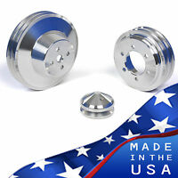 Buick Pulley Kit - Big Block 400 430 455 Crank V-belt Billet Aluminum Long Lwp