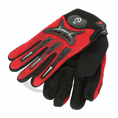New Full Finger GEL Antiskid Motorcycle Bike Bicycle Riding Cycling Gloves Red