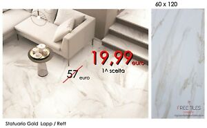 Piastrelle pavimento gres effetto marmo calacatta beige 60 x 120