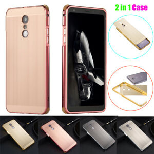 detailed pictures 4cdc6 ce43f Details about Ultra Slim Brushed Metal Aluminum Frame Hard Case Cover For  LG Stylo 4/Q Stylyus