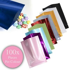 100PCS-Mini-Foil-Packaging-Coloured-Packing-Favours-Lolly-Gift-Pouch-Party-Bags