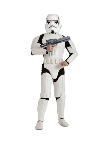 Mens Deluxe Stormtrooper Star Wars Fancy Dress Storm Trooper Adult Costume New
