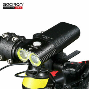 Gaciron-1600-LM-CICLISMO-HeadLight-Bike-Luce-Frontale-Torcia-Ricaricabile-USB-IT
