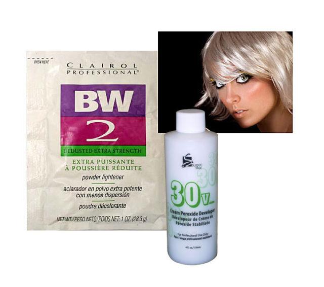 Clairol Bw2 Bleach Powder Hair Lightener W 4oz 30 Vol Peroxide