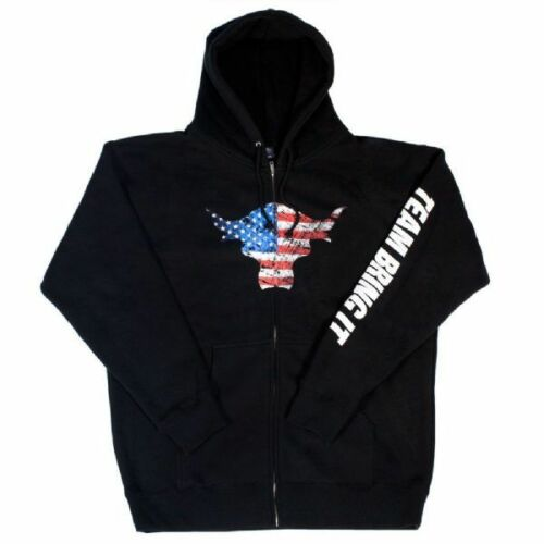 WWE THE ROCK TEAM BRING IT USA YOUTH FULL ZIP SWEATSHIRT OFFICIAL NEW