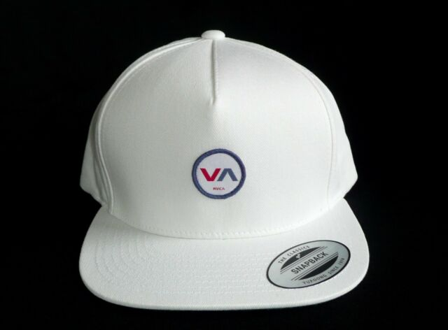 new product ef549 ed6b6 ... canada rvca va white adjustable snapback hat cap the classics yupoong  new 131a4 3bd89