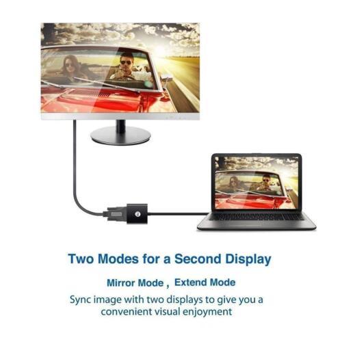 USB 3.0 a VGA Cavo Adattatore Video Convertitore 1080p per PC Portatile windows 7//8//10