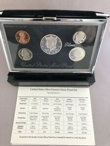 Condition Free Shipping Exc 1998 Premier Silver Proof Set
