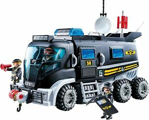 PLAYMOBIL-City-Action-Vehicle-With-Light-LED-And-Module-Of-Sound-With-3-Cops