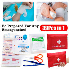 39Pcs IN 1 First Aid Energency Kit Outdoor Sport Travel Car Home Medical Bag