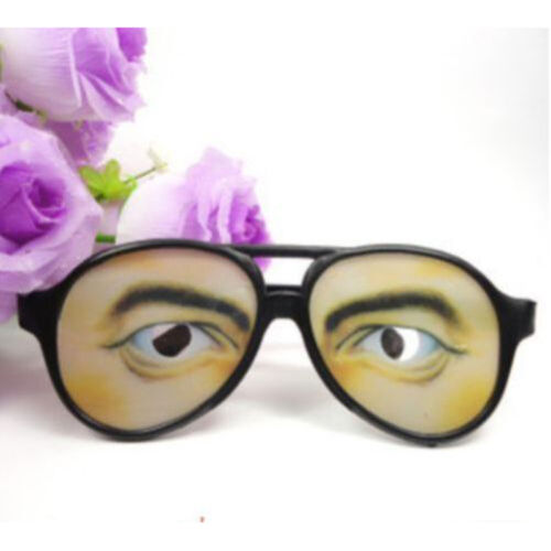 New HALLOWEEN PARTY Funny Glasses Fake Novelty Gag Prank Eye Ball Joke JH