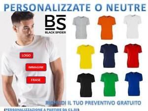 t-shirt-uomo-girocollo-manica-corta-black-spider-cotone-maglia-personalizzabile