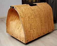 Holztragetasche Holzkorb mit Rollen aus Naturkork B • H • T = 52 • 45 • 38cm