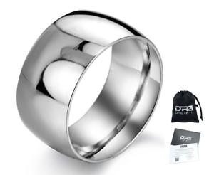 Anello-doppio-in-acciaio-con-incisione-Fascia-Uomo-Donna-Unisex-Regalo-lucido