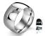 Anello-doppio-in-acciaio-con-incisione-Fascia-Uomo-Donna-Unisex-Regalo-lucido miniatura 1