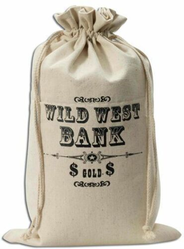 COWBOYS//INDIANS , COPS//ROBBERS FANCY DRESS MONEY BAG WILD WEST