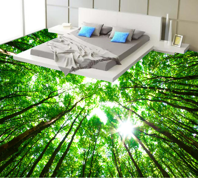 3D Grün Light Grove 78  Floor WallPaper Murals Wall Print Decal AJ WALLPAPER US