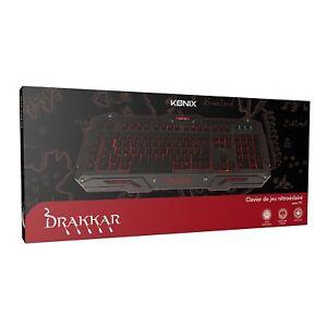 Clavier-Gamer-Drakkar-Midgard-AZERTY-PC-NEUF-Officiel-2000-XP-Vista-7-8-10