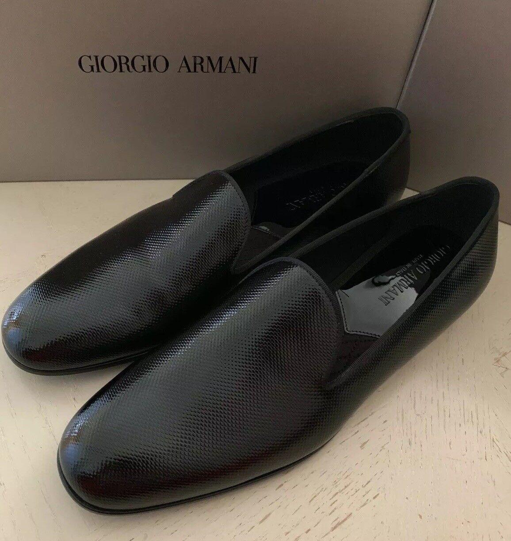 New  795 Giorgio Giorgio Giorgio Armani Men Leather Loafers shoes Black 11 US X2J007 ad9473