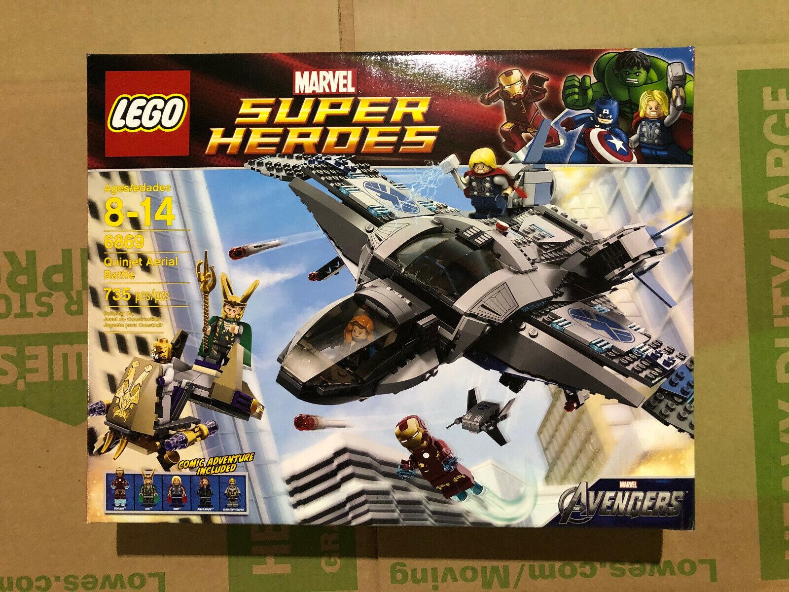 Lego Super Heroes 6869  The Avengers Quinjet Aerial Battle BRe nuovo  miglior prezzo migliore
