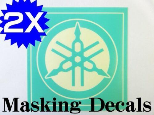 X2P YAMAHA LOGOMARK MASKING DECAL STICKER DIE CUT YZ100 YZ125 ...