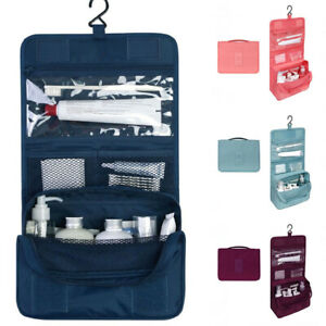 b5bd9198f138 Details about Portable Travel Makeup Cosmetic Bag Hanging Folding Toiletry  Wash Bag Organizer