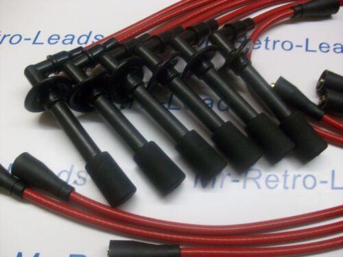 Rosso 8mm porta le prestazioni di accensione si adatta PORSCHE 911 1963-1990 TARGA zef309
