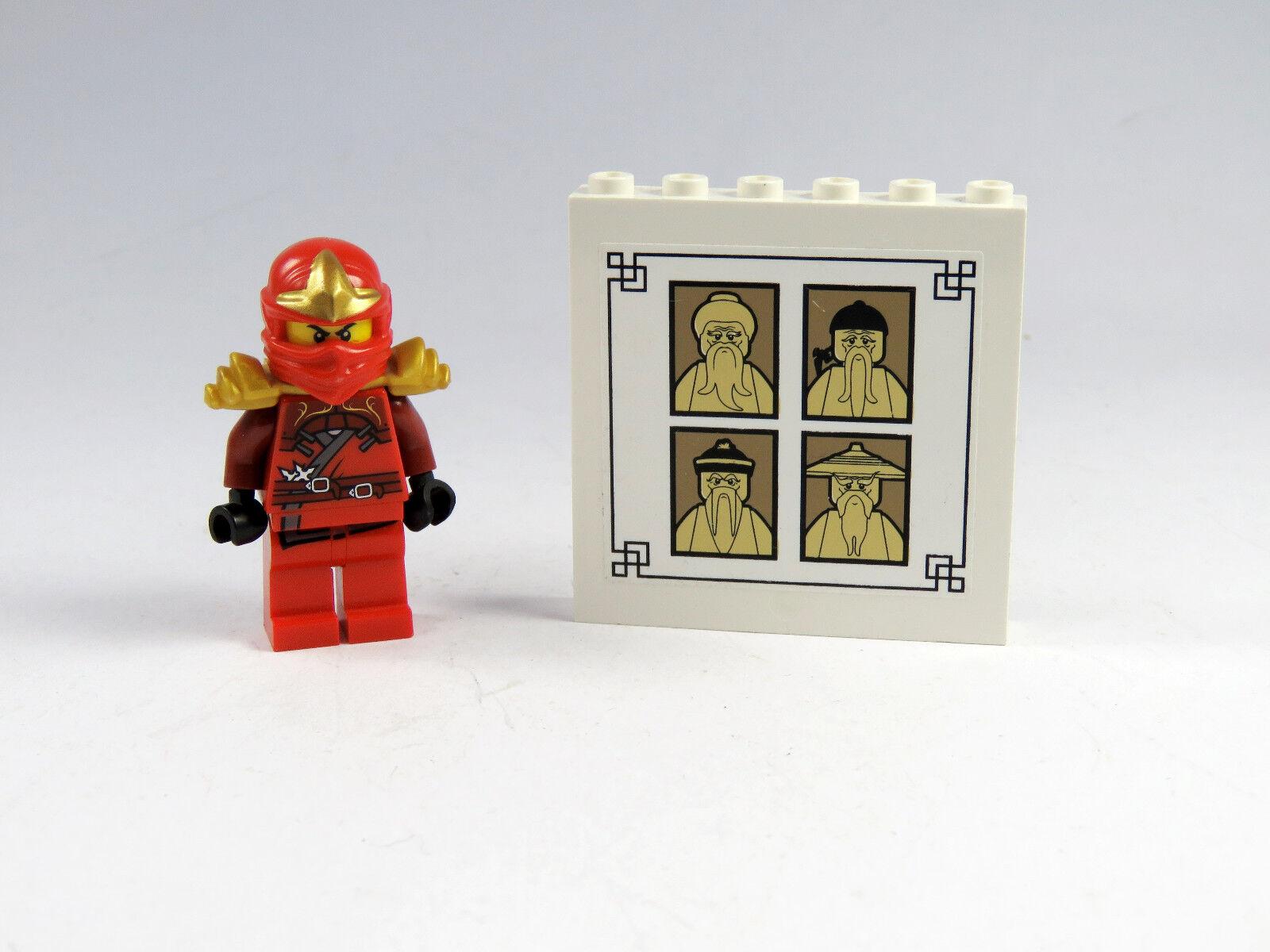 LEGO® Ninjago™ Figur Kay ZX mit rot Rüstung Armor Schwerthalterung rot mit mit Tafel e04e62