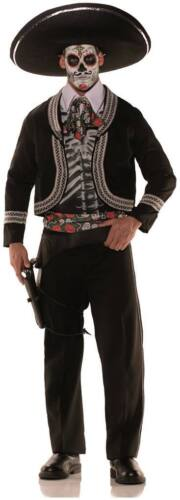 ADULT DAY OF THE DEAD SKELETON MARIACHI SPANISH MEXICAN HISPANIC MENS COSTUME