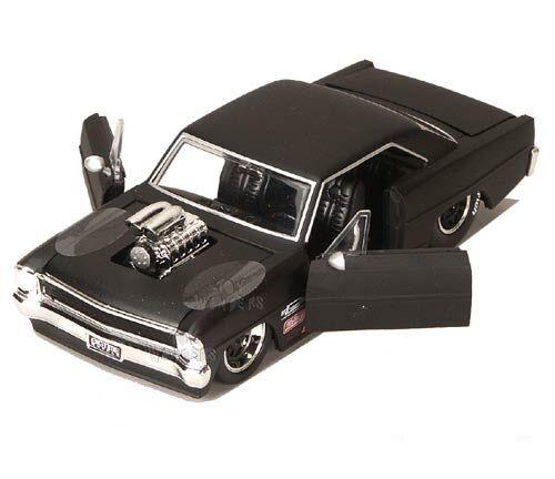 Jada Bigtime Muscle 1967 Chevrolet Nova Ss Blow Engin 1 24 Neuf Emballé