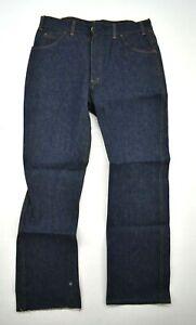 Saddle King by Key Mens Dark Washed 5 Pocket Denim Blue Jeans 36x30 Imperfect