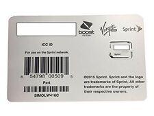 Sprint SIMOLW416C UICC ICC Nano SIM Card