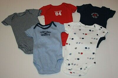 Carter/'s Baby Boy 5-PK Sports Ball*Tiny But Mighty Bodysuit 24M NWT