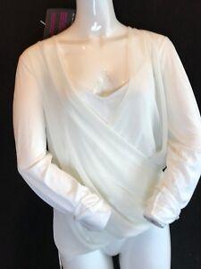 Polo Lauren Knit Ralph a per le taglia L lunghe 129 donne Nevis Top maniche Rrp Bnwt wTqCd0Ew