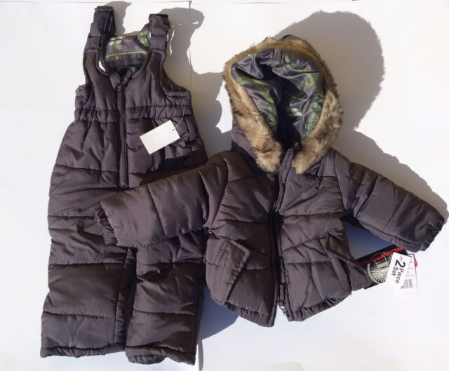 5e3db2f5d Weatherproof Baby-boys Infant Heavy Weight Puffer Snowsuit Charcoal ...