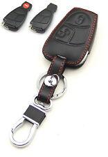 Leather Case Cover Holder For Mercedes C S CLK SLK Remote Smart Key 2 3 4 Button
