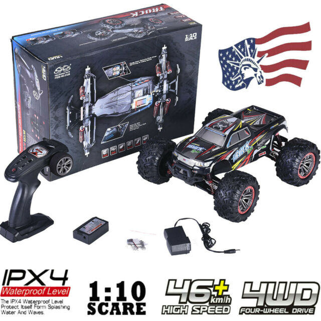 1:10 Scale High Speed 46km/h 4WD 2 4Ghz Remote Control Truck Off-Road Car  9125